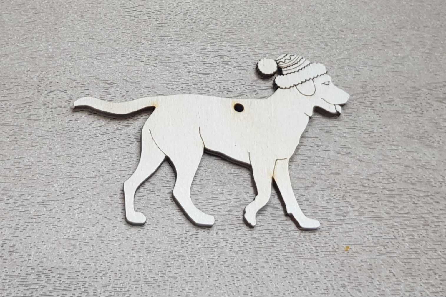 Christmas tree decoration labrador with a hat
