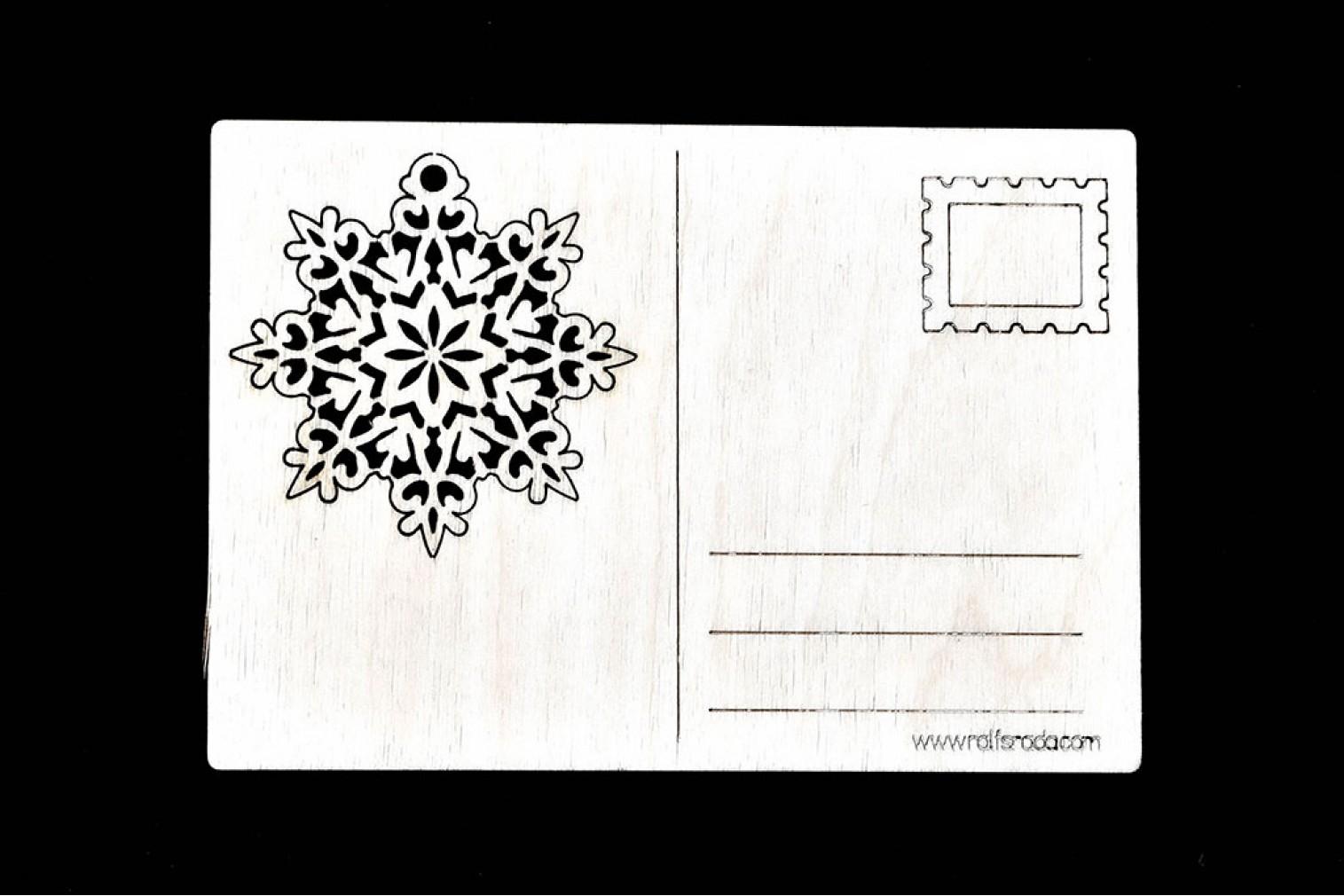 Postcard Snowflake No 2