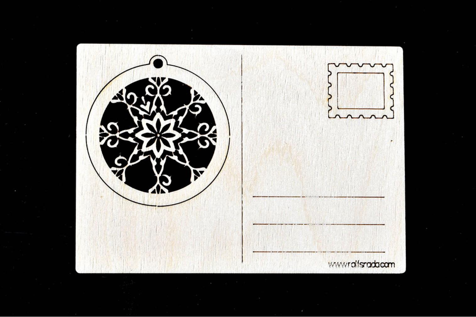 Postcard Snowflake No 3