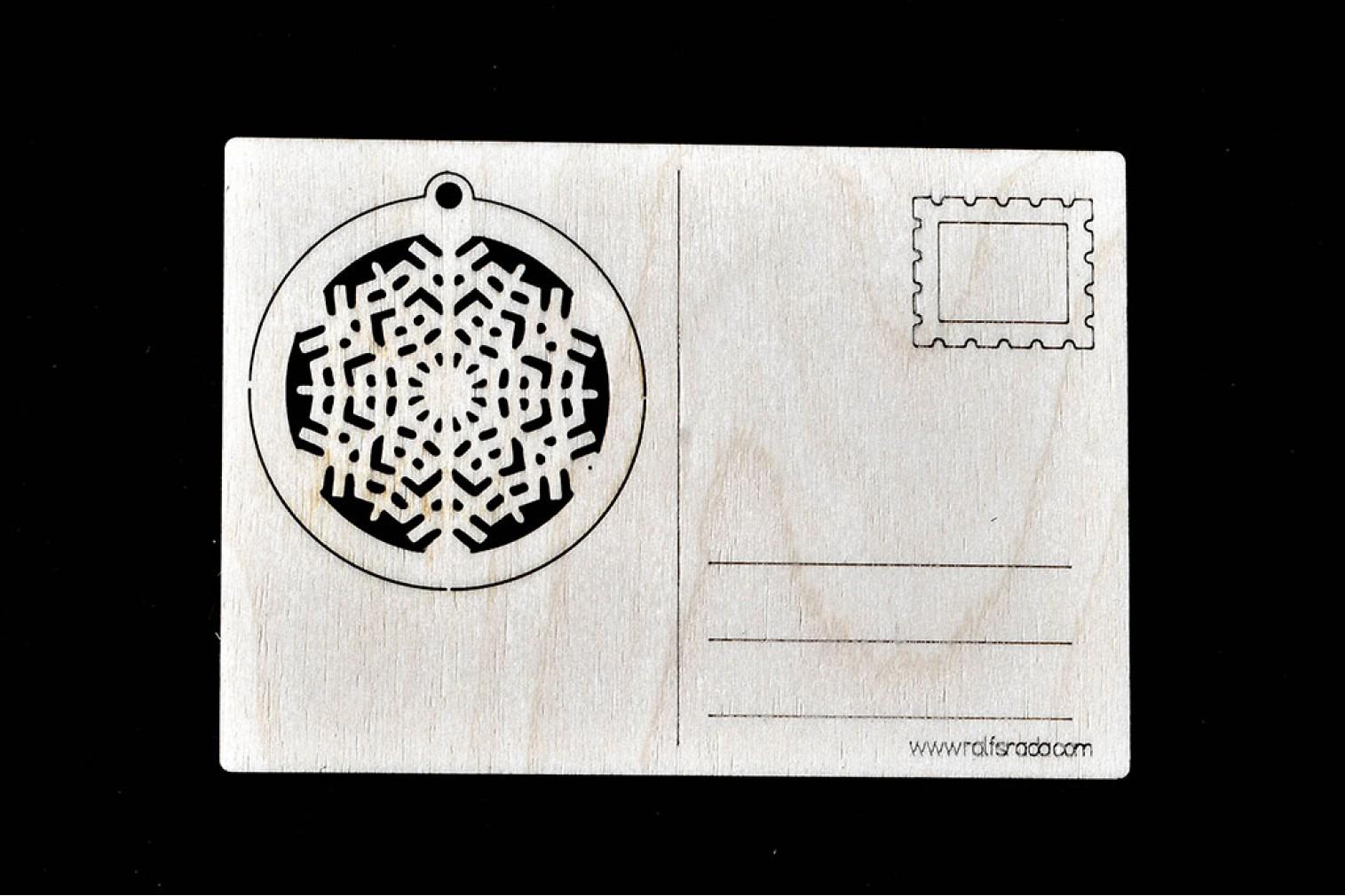 Postcard Snowflake No 4