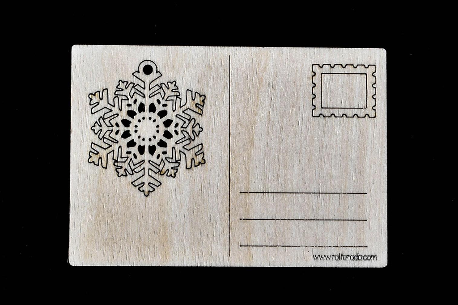 Postcard Snowflake No 5