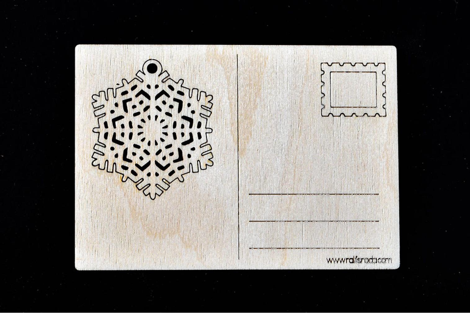 Postcard Snowflake No 6